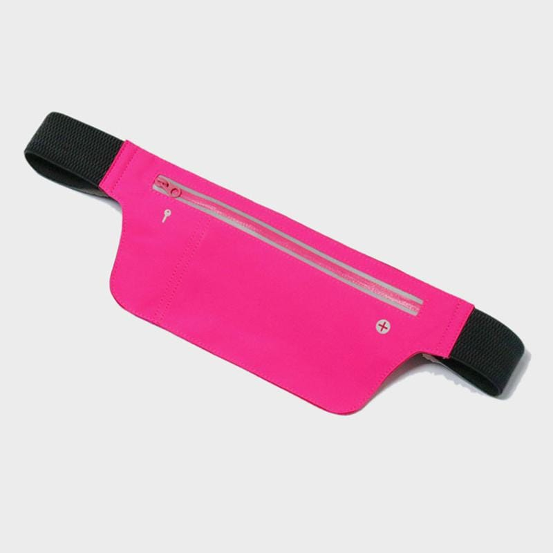 Obangbag Pink Unisex Chic Sports Multifunction Outdoor Running Lycar Waterproof Fanny Pack Waist Bag