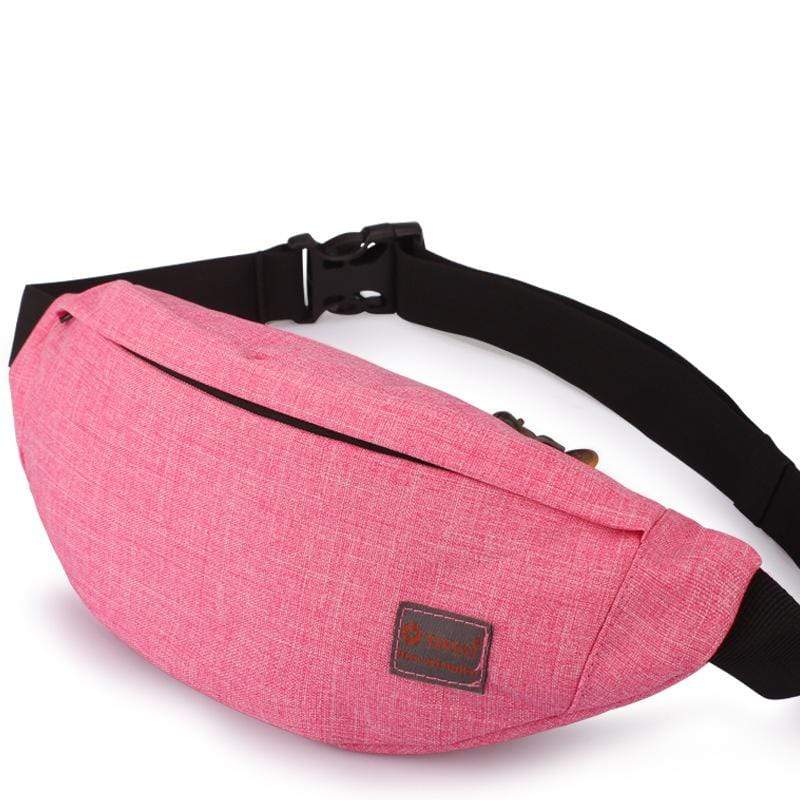 Obangbag Pink Unisex Lightweight Multifunction Casual Sports Outdoor Waterproof Fanny Pack Phone Bag