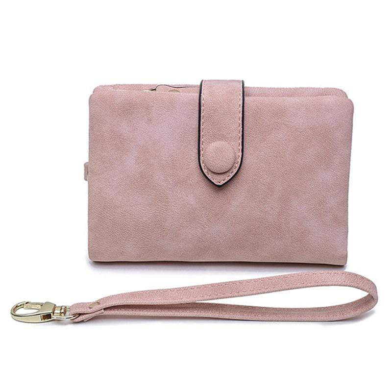 Obangbag Pink Women Chic Elegant Multi Layers Roomy Lightweight Leather Wallet Clutch Bag
