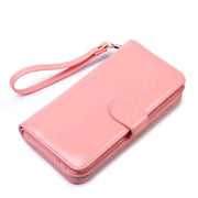 Obangbag Pink Women Faux Leather  Long Clutch Bag Wallet Card Holder