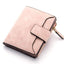 Obangbag Pink Women Leather Wallets Cards Holders Coin Pocket Purse