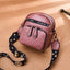 Obangbag Pink Women Retro Mini Cute Stylish PU Leather Crossbody Bag Shoulder Bag