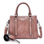 Obangbag Pink Women Simple Vintage Big Large Capacity PU Leather Handbag Crossbody Bag