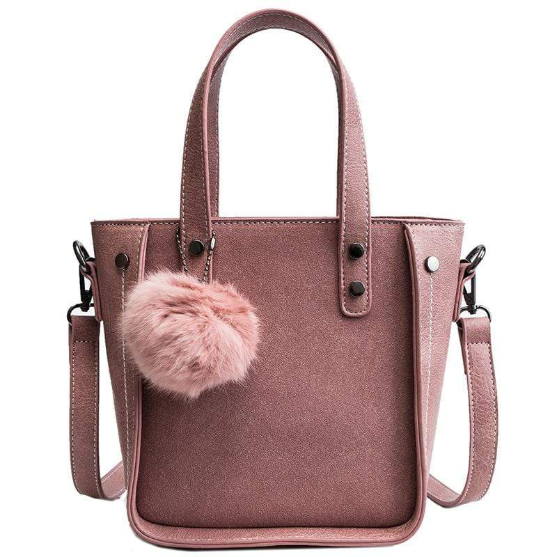 Obangbag Pink Women Vintage Chic Roomy Lightweight Leather Handbag Crossbody Bag for Work