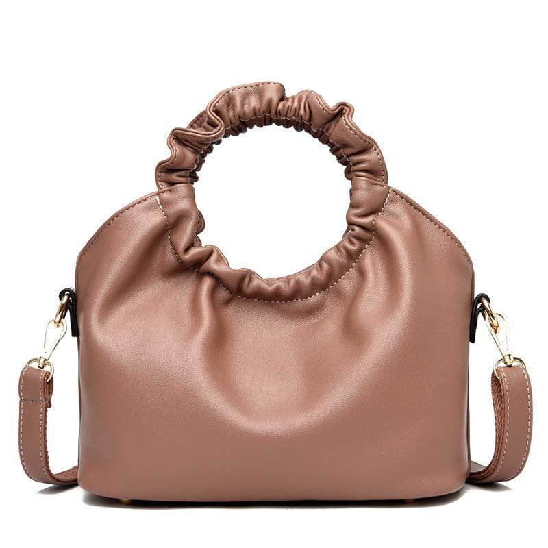 Obangbag Pink Women Vintage Designer Elegant Chic Lightweight Large Capacity Solf Leather Handbag Shoulder Bag Crossbody Bag