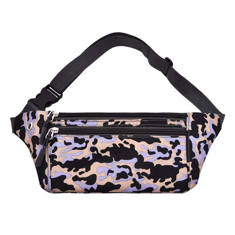 Obangbag Pinlk Unisex Chic Outdoor Running Anti-theft Roomy Sport Oxford Waterproof Fanny Pack Waist Bag Phone Bag