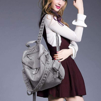 Obangbag Punk Multi Pockets Professional Cool Daily Work Backpack