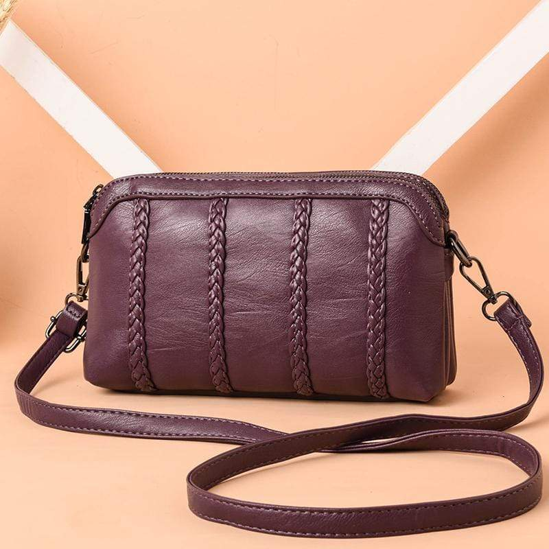 Obangbag Purple 1 Women Vintage Cute Mini Roomy Professional Soft Leather Crossbody Bag Shoulder Bag