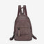 Obangbag purple Hot Sale Large Capacity Multi Function Pockets Vintage Leather Backpack