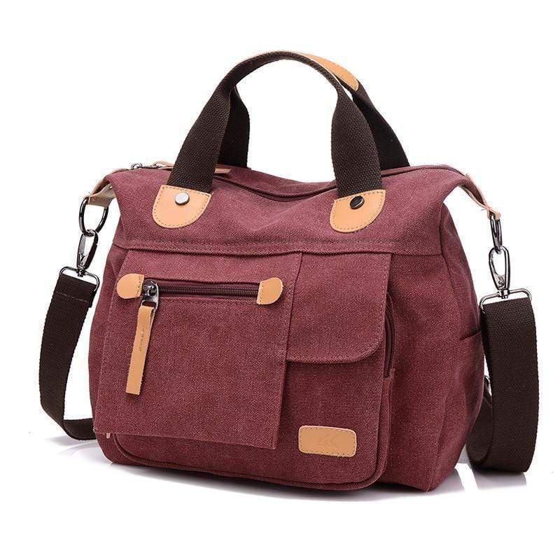 Obangbag Purple Large Capacity Shoulder Bag Travel Bag Canvas Bag