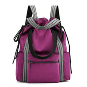 Obangbag Purple Multifunction Adjustable Travel Backpack Waterproof Zipper Shoulder Bag Backpack