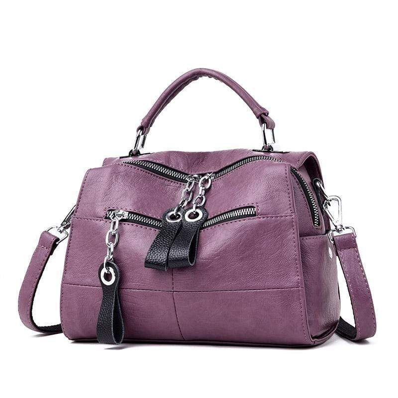 Obangbag purple Multifunctional Large Capacity Fashion Shoulder Bag Messenger Bag