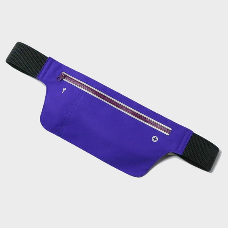 Obangbag Purple Unisex Chic Sports Multifunction Outdoor Running Lycar Waterproof Fanny Pack Waist Bag