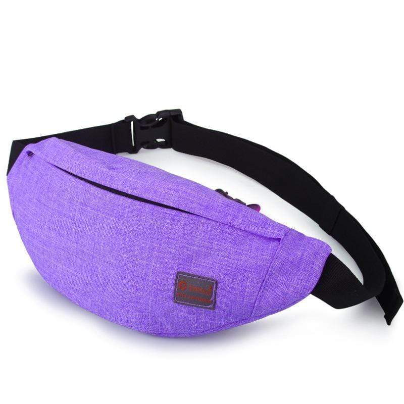 Obangbag Purple Unisex Lightweight Multifunction Casual Sports Outdoor Waterproof Fanny Pack Phone Bag