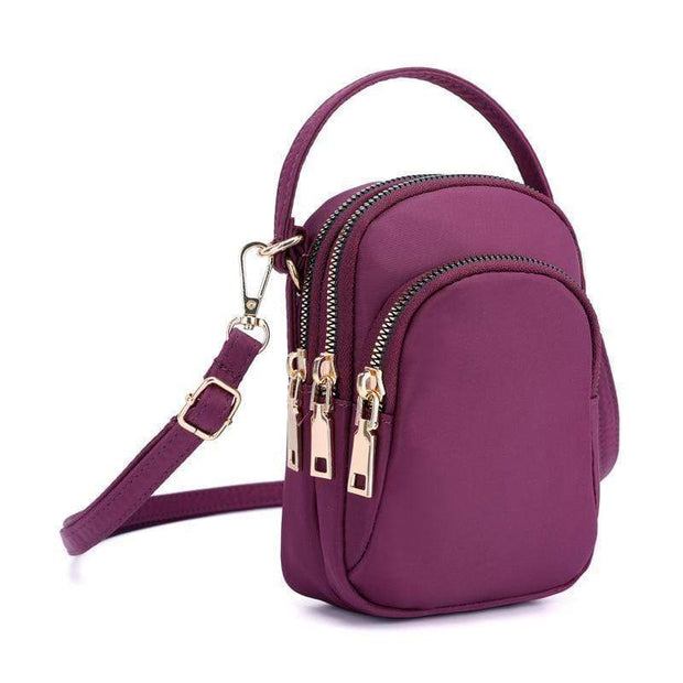 Obangbag Purple Waterproof Multi Function MINI Women's Handbag Crossbody Bag Phone Bag
