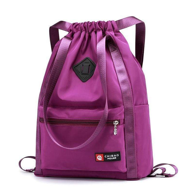 Obangbag Purple Waterproof Nylon Cloth Large Capacity Wall Mounted Backpack
