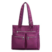 Obangbag Purple Waterproof Women's Large Capacity Canvas Travel Shoulder Bag Tote Bag