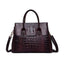 Obangbag purple Woman retro fashion multi-function large capacity handbag