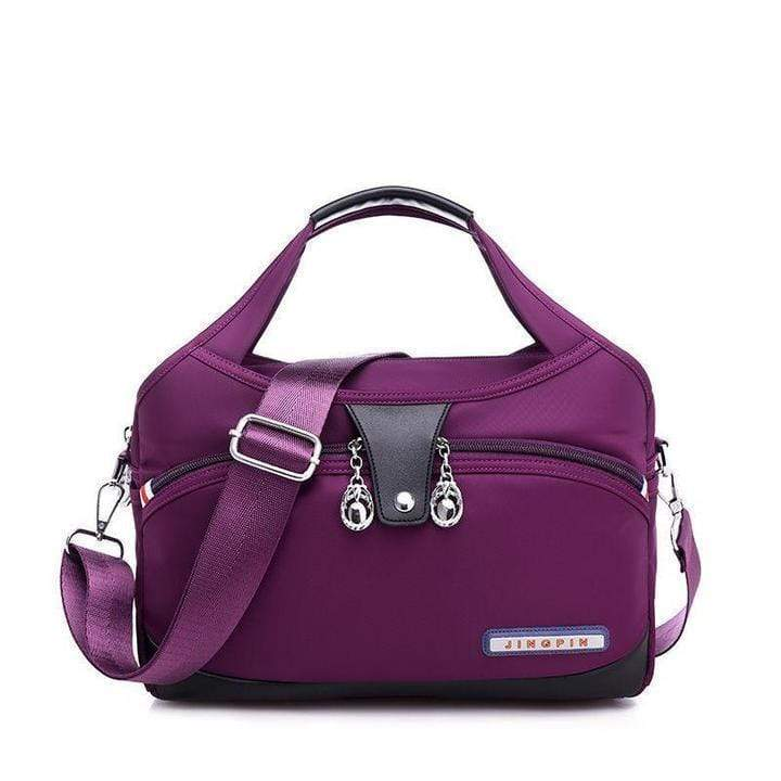 Obangbag purple Women Oxford Elegant Large Capacity Satchel Bag