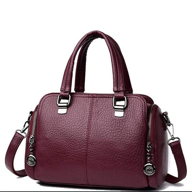 Obangbag purple Women's Handbag Solid Color All Matched Elegant Large Capacity Bag