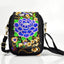 Obangbag Purple Women Vintage Cute Mini Stylish Embroidery Canvas Phone Bag  Crossbody Bag Shoulder Bag