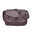 Obangbag Purple Women Vintage Elegant Roomy Multi Pockets Professional Soft Leather Crossbody Bag