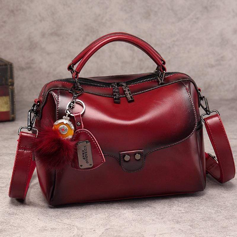 Obangbag Red 2020 new retro fashion wild shoulder shoulder messenger handbag