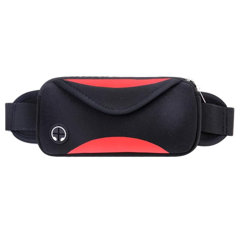 Obangbag Red Casual Simple Earphone Access Outdoor Sport Waterproof Fanny Pack Waist Bag Phone Bag