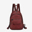 Obangbag red Hot Sale Large Capacity Multi Function Pockets Vintage Leather Backpack