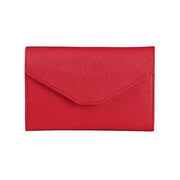 Obangbag Red Leather Vintage Wallet Ticket Holder