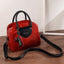 Obangbag Red Multi Pockets Retro Vintage Classical Oil Wax Leather Handbag