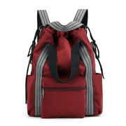 Obangbag Red Multifunction Adjustable Travel Backpack Waterproof Zipper Shoulder Bag Backpack