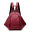 Obangbag Red Multifunction Women Leather Backpack Large Capacity Deformable Stylish Shoulder Bag