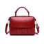 Obangbag Red Retro Leather Vintage Multi-pocket Handbag Minimalist Messenger bag