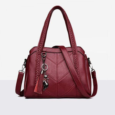 Obangbag red Stylish Multi-layer Large Capacity Handbag iPad Bag