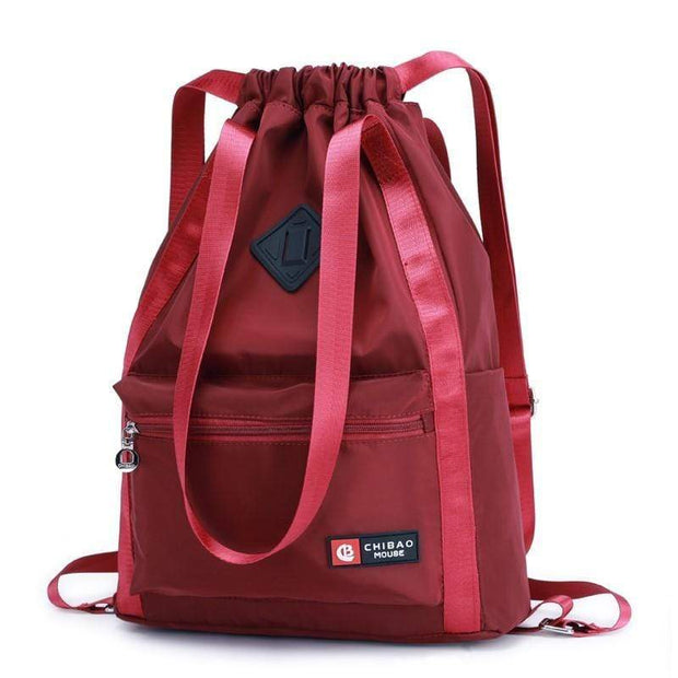 Obangbag Red Waterproof Nylon Cloth Large Capacity Wall Mounted Backpack