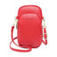 Obangbag Red Women Cute Chic Roomy Lightweight Portable Multifunction Leather Phone Bag Crossbody Bag
