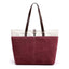 Obangbag Red Women Daily Casual Large Capacity Lightweight Canvas Handbag Tote Bag Shoulder Bag