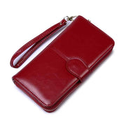 Obangbag Red Women Faux Leather  Long Clutch Bag Wallet Card Holder