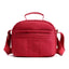 Obangbag Red Women Multi Pockets Waterproof Nylon Shoulder Bag Lightweight Handbag Mummy Bag