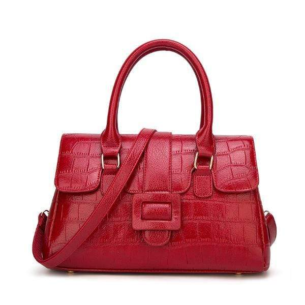 Obangbag Red Women's Fashion Crocodile Tote Women's Shoulder Crossbody Bags