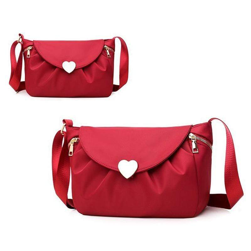 Obangbag Red Women Stylish Casual Roomy Lightweight Daily Nylon Shoulder Bag Crossbody Bag for Work