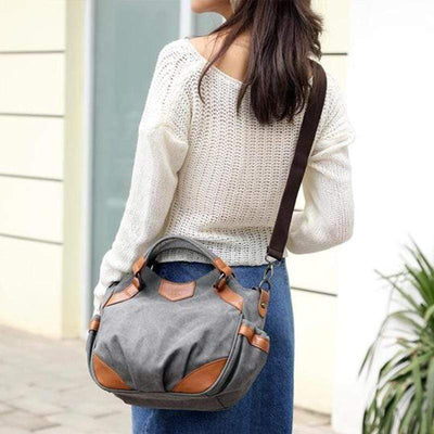 Obangbag Retro Canvas Handbag Large Capacity Shoulder Bag