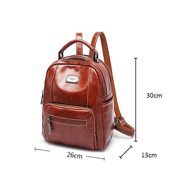 Obangbag Retro Vintage Large Capacity Oil Wax Backpack