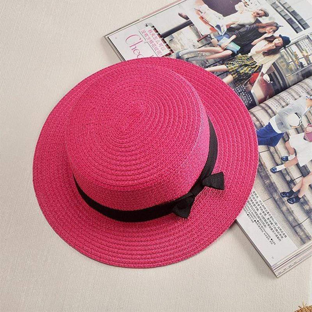 Obangbag Rose / M 2019 Women Summer Beach Straw Hat
