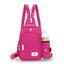 Obangbag Rose Red Unisex Chic Stylish Roomy Multifunction Waterproof Nylon Backpack Shoulder Bag Chest Bag for Travel