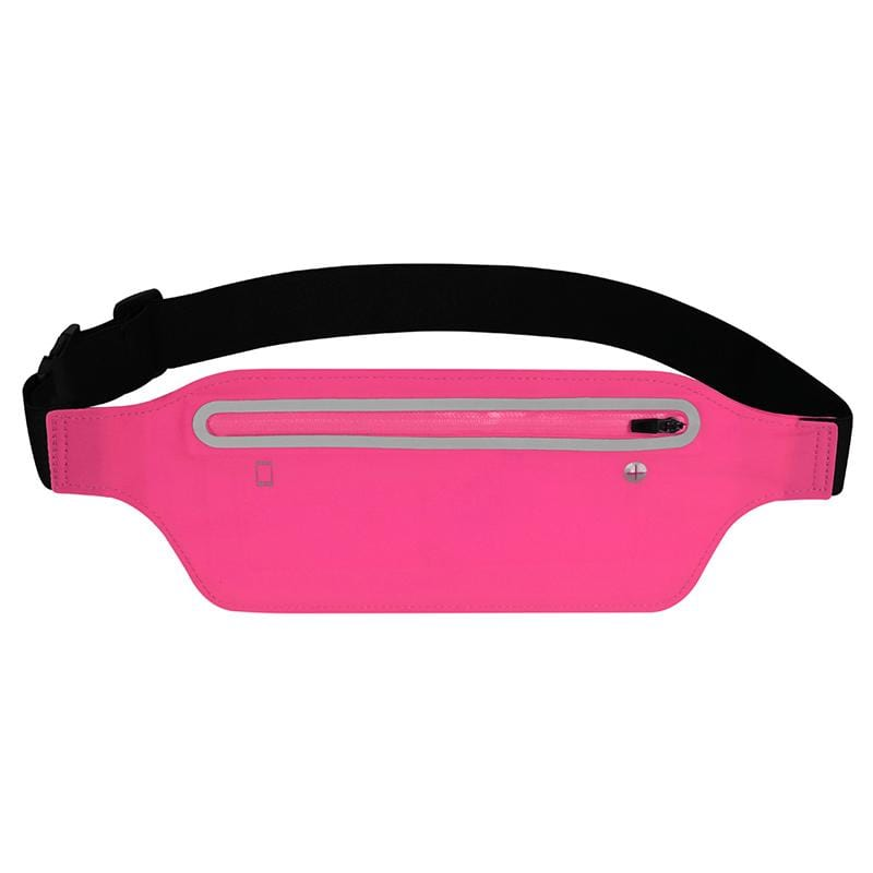 Obangbag Rose Red Women Chic Outdoor Sports Lightweight Roomy Running Waterproof Fanny Pack Waist Bag Phone Bag