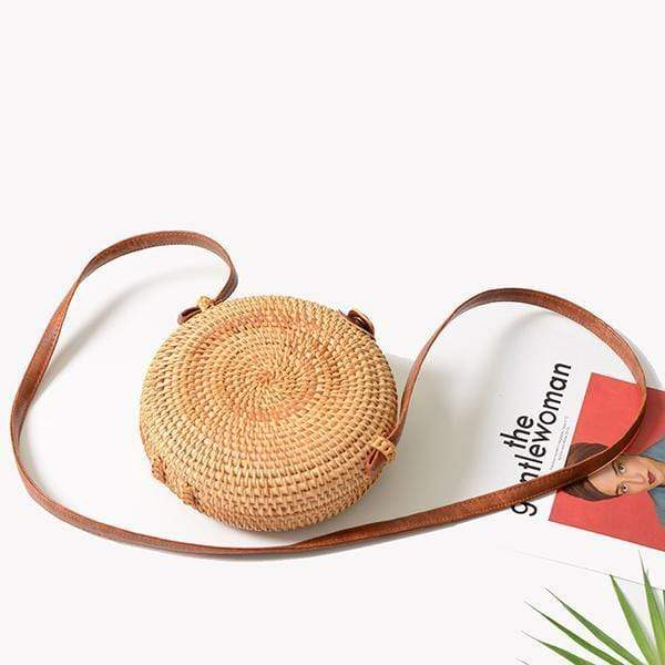 Obangbag Round Vietnamese Summer Fashion Handmade Rattan Bag