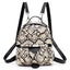 Obangbag Snake Skin Print Women Cute Vinutage Roomy Lightweight Snake Skin Pattern Leopard Print Leather Backpack Shoulder Bag