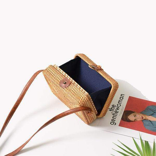 Obangbag Square Vietnamese Summer Fashion Handmade Rattan Bag